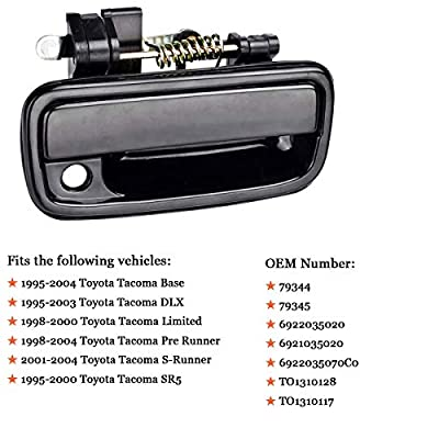 Exterior Outside Door Handle for Toyota Tacoma 1995 1996 1997 1998 1999 2000 2001 2002 2003 2004, 2Pcs Front Driver & Passenger Side Replacement, 6922035020 6921035020: Automotive