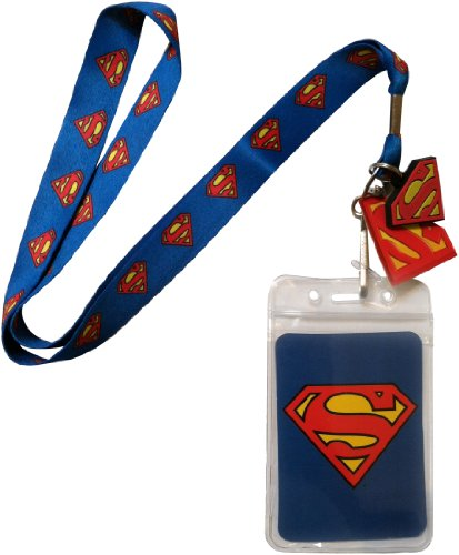 DC+Comics Products : Lanyard with Charm DC Comics Superman Logo Lanyard