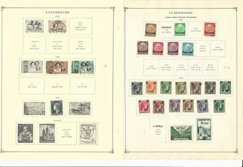 Luxembourg Collection 1944-1962 on 15 Scott International Pages