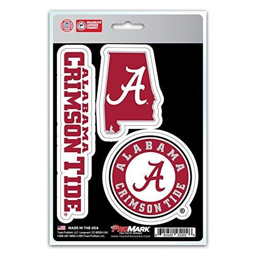 - NCAA Alabama Crimson Tide Team Decal, 3-Pack