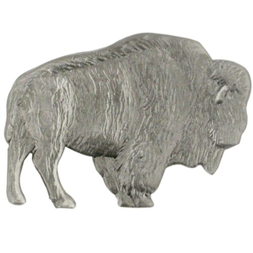 PinMart's Antique Silver Wild Buffalo Animal Lover Lapel Pin