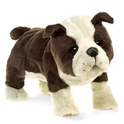 Folkmanis English Bulldog Puppy Hand Puppet: Toys & Games