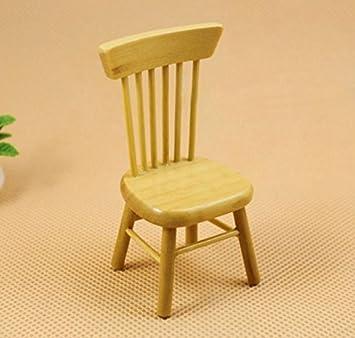 Exoh 1 12 Puppenhaus Miniatur Holz Esszimmer Mobel Stuhl Holz Farbe