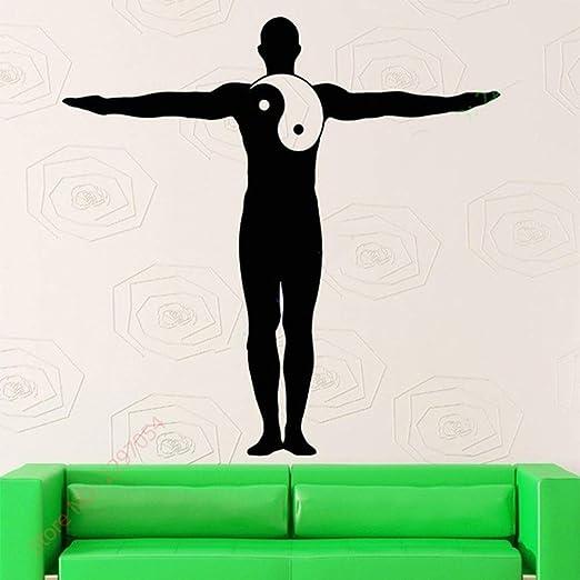 pegatina de pared 3d pegatina de pared frases Yoga Decal Yin ...