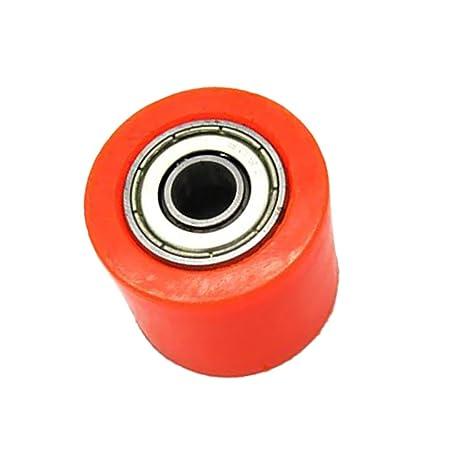 Sharplace Rodillo de Cadena Pieza de Transmisi/ón de Veh/ículos para CRF YZF KTM RMZ KLX Rojo