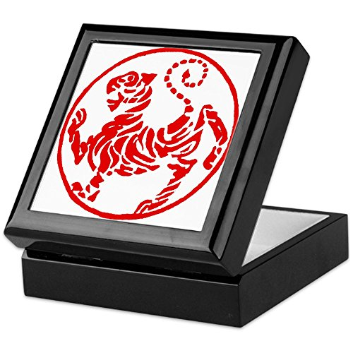 CafePress - Shotokan Red Tiger - Keepsake Box, Finished Hardwood Jewelry Box, Velvet Lined Memento ()