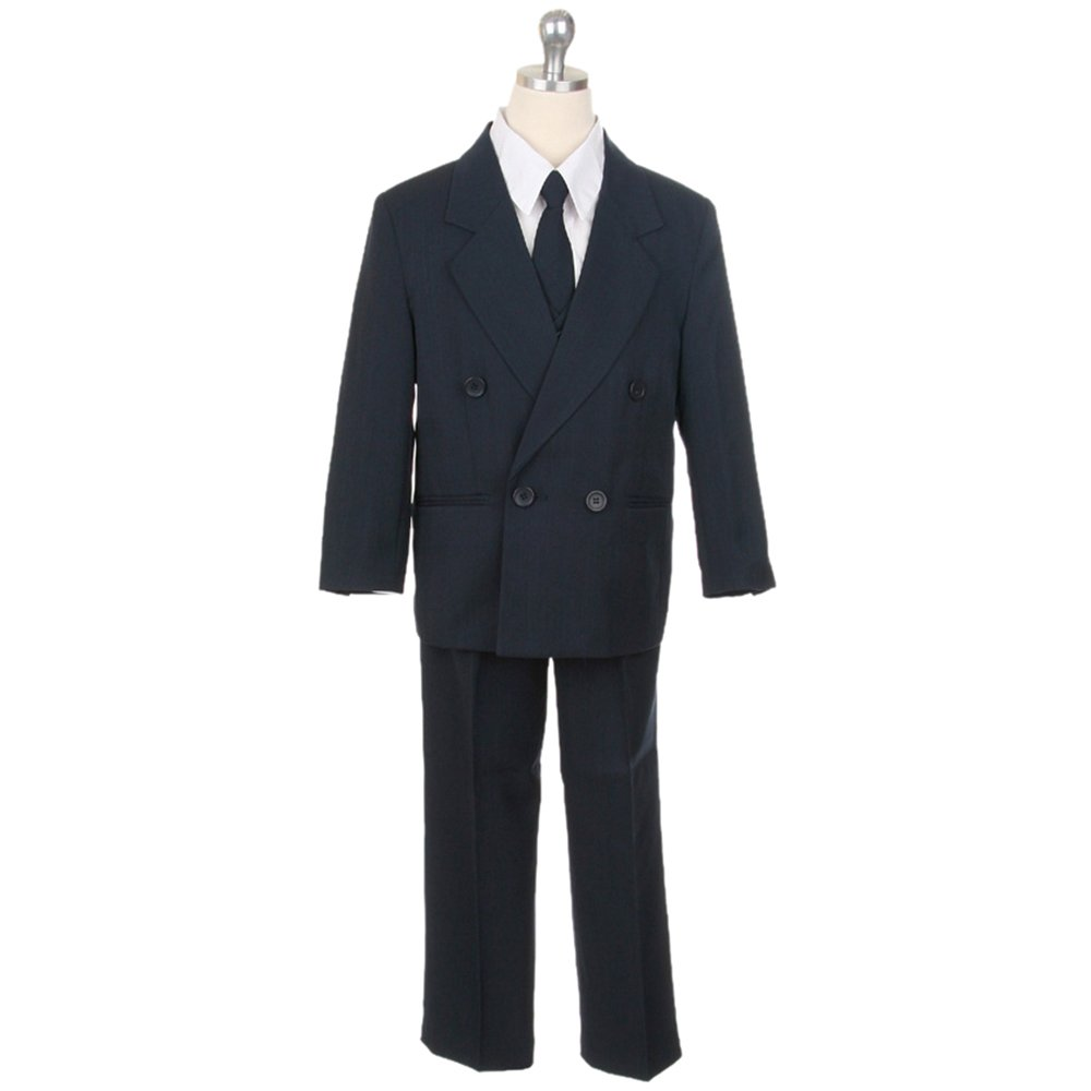 HBDesign 3 Piece Double Breasted Formal Boy Suit Navy HBS 3 NB