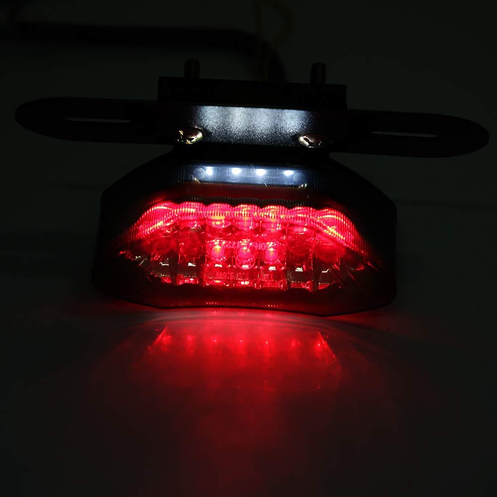 20 LED Fumo Lente Freno Moto Segnale di Direzione Fanale Posteriore Targa Posteriore Luce Integrata Fanale Posteriore Moto