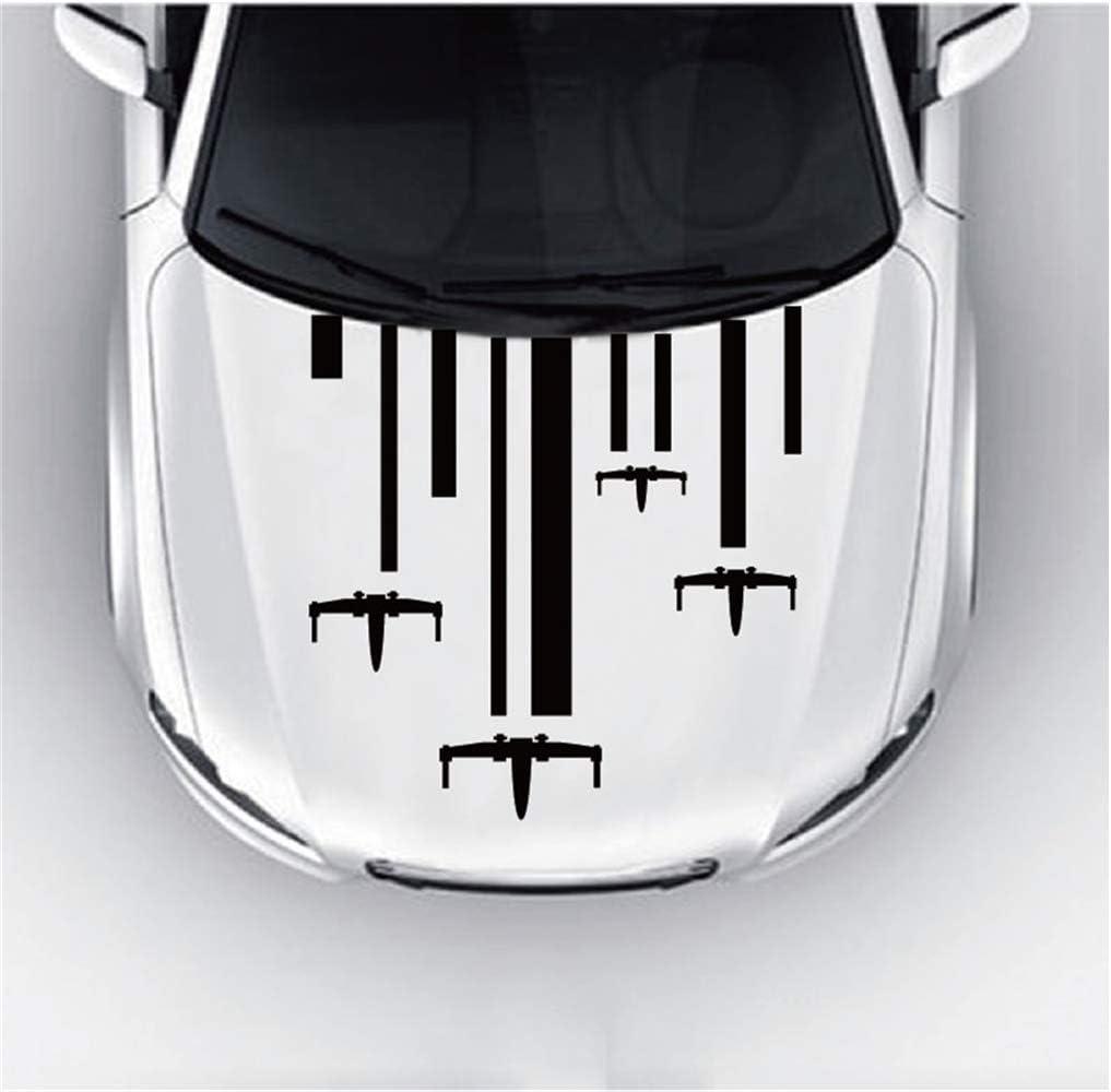 Autoaufkleber Star Wars Autoaufkleber Jedi Wings Spaceships Hood Stripe Universal Coole Auto Aufkleber Für Karosserie Für Auto Laptop Fenster Aufkleber Baumarkt