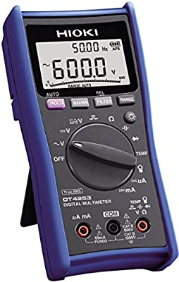 Hioki DT4253 Standard Digital Multimeter with Temperature and Clamp Current Testing for HVAC Applications