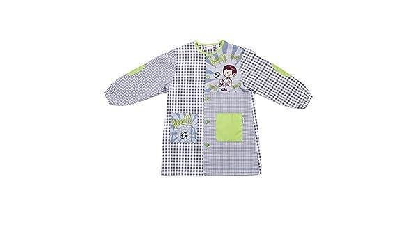 Dyneke Bata escolar botón gris Madrid Fútbol (personalización opcional gratutia con nombre bordado) (Talla 5): Amazon.es: Ropa y accesorios