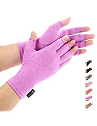 Duerer Arthritis Gloves Women Men for RSI, Carpal Tunnel, Rheumatiod, Tendonitis, Fingerless Hand Thumb Compression Gloves Small Medium Large XL for Pain Relief