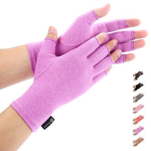 Duerer Arthritis Gloves Women Men-Compression Gloves for Pain Relief-RSI, Carpal Tunnel, Rheumatoid & Osteoarthritis Hand Gloves(Purple, M)