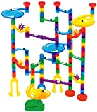 Toys : Marble Genius Marble Run Starter Set - 130 Complete Pieces + Free Instruction App (80 Translucent Marbulous Pieces + 50 Glass Marbles)