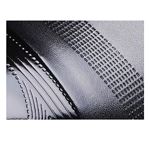 in Uomo in Pelle Scarpe Black Uomo Scarpe Aumentato in da Pelle d'Affari Pelle d'Affari 6 da Centimetri ZnXqw8