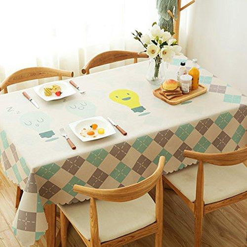 JIAYOU Nappe Tissu Coton Et Lin Petit Frais Linge De Table Nappe Lin Rectangulaire Couverture Pastorale Nappe épaississeHommest, 3,13  190Cm