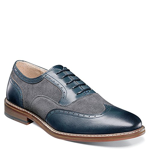 Stacy Adams Ansley Men's Oxford Indigo-grey 2014 new cheap price official site cheap price a3wEj0C6xH