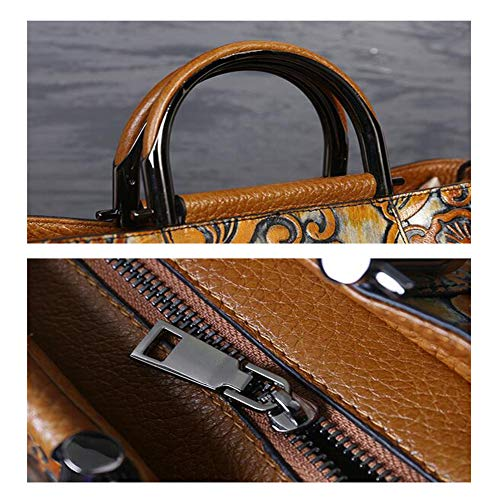 Main De Diagonal Dames Paquet Brown De 26CM Capacité De Cuir D'épaule Green Relief Cuir XRKZ en Sac 27 Multifonctionnel Grande 12 De Brown à IOqgWxgEP