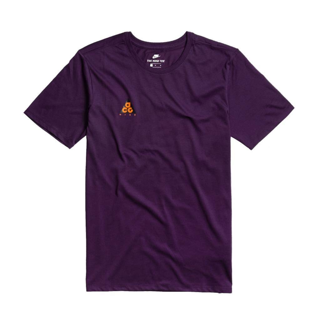 873e0145 Nike Men's Sportswear ACG T-Shirt 'We Out There' Night Purple/Mandarin at  Amazon Men's Clothing store: