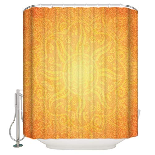 Bathroom Shower Curtain Orange,Funny Shower Curtains Durable Fabric Bath Curtain Mildew Resistant Waterproof Bathroom Curtain with 12 Hooks 36