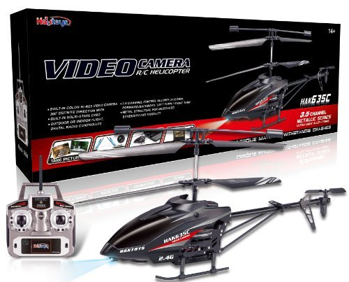 Haktoys HAK635C 2.4GHz 17' Video & Photo Camera 3.5CH Helicopter, Gyroscope, Rechargeable, Ready to Fly, and with LED Lights (Micro SD Card Included)