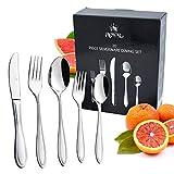 Royal 20-Piece Silverware Set - 18/10 Stainless Steel Utensils Forks Spoons Knives Set, Mirror Polished Cutlery Flatware Set