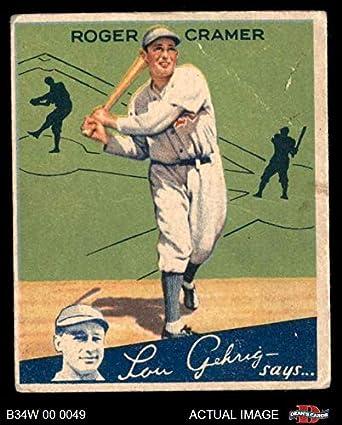 Amazoncom 1934 World Wide Gum 74 Doc Cramer Baseball Card