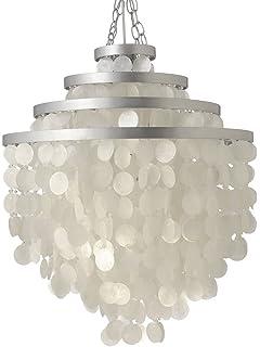 kouboo round capiz chandelier natural white capiz lighting fixtures