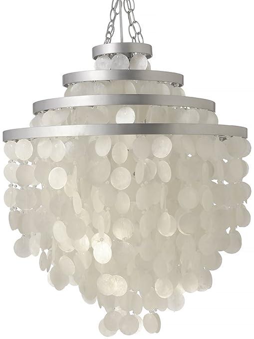 Amazon.com: kouboo Ronda Capiz – Lámpara de techo (Natural ...