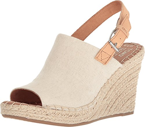 - TOMS Women's Monica Wedges Natural Hemp/Leather 10011843 Size 5.5