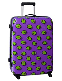 Ed Heck Olives Hardside 28-Inch 4-Spinner Upright Luggage, Purple