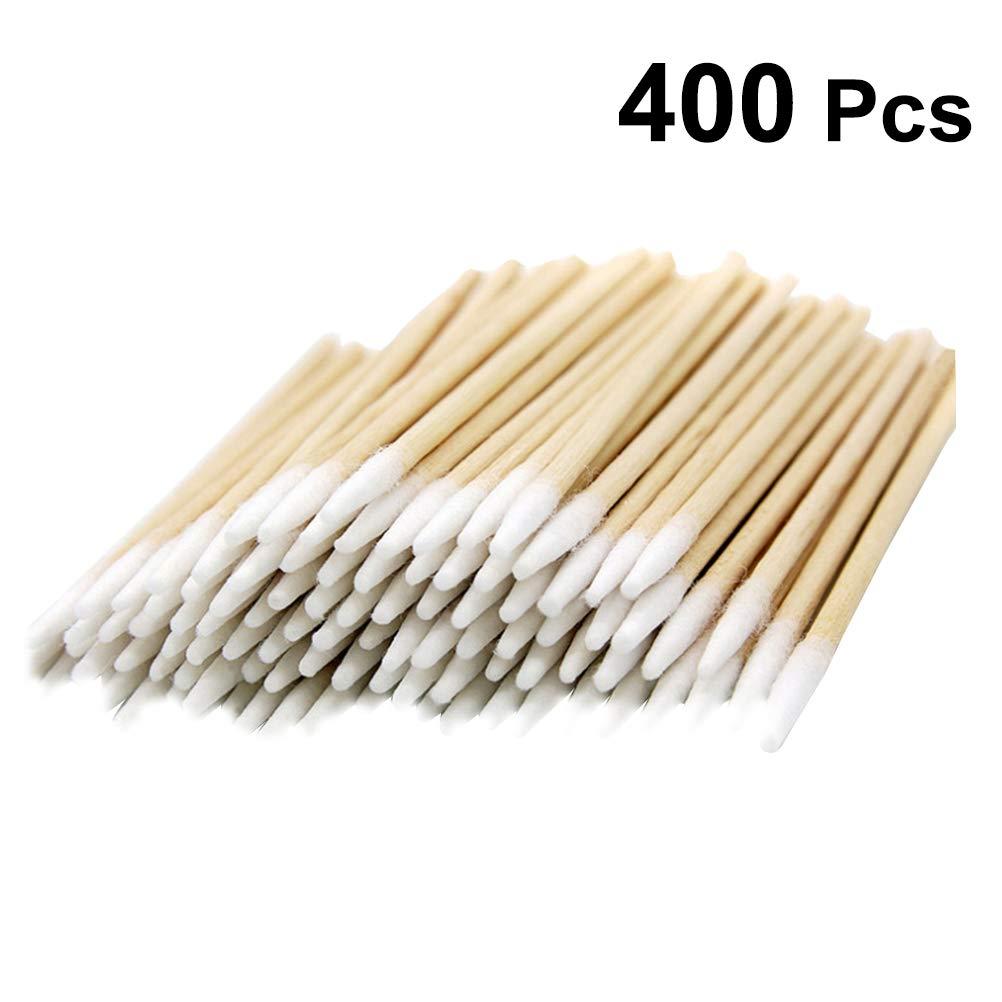 Bast/ón de algod/ón para limpieza de cosm/éticos Lurrose 400 unidades