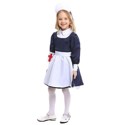 QZ Uniforme de Enfermera Ropa para niños Juego de rol ...