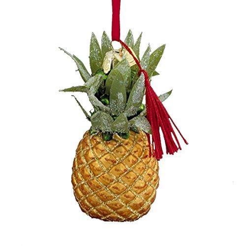 Kurt Adler 3.5'' Noble Gems Glass Pineapple Ornament