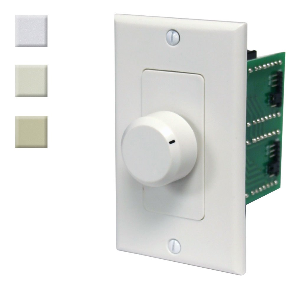 100w In Wall Stereo Speaker Volume Control With Wiring Diagram Further 3 Way Impedance Matching White Ivory Almond By Avx Audio Electronics