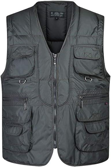 BOZEVON Men Casual Vest Winter Cotton Waistcoat