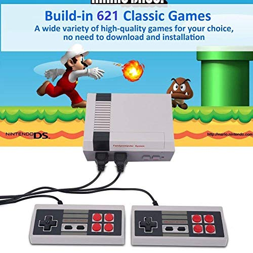 GDpride NEW HD Retro Classic Game Consoles Built-in 621 Classic Family Games handheld game player Family TV video game console, Love Life And Enjoy The Game