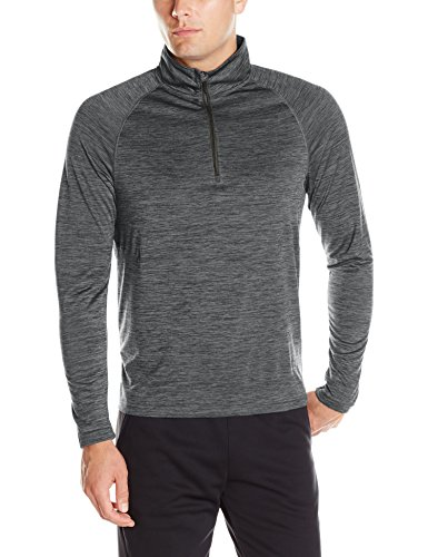 Charles River Apparel Men's Space Dye Moisture Wicking Performance Pullover, Black, Small (Space Dye Pullover compare prices)
