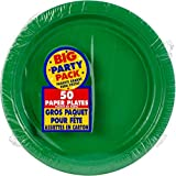 """Amscan Big Party Pack Festive Green Paper Plates 