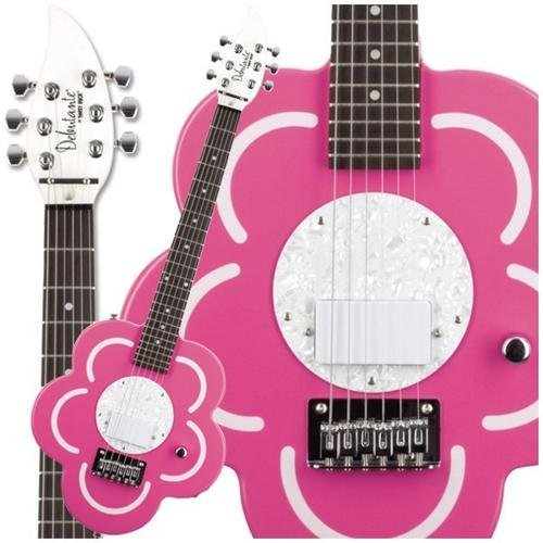 Daisy Rock Short Scale Guitar Left-Handed, Pepper Mint ()