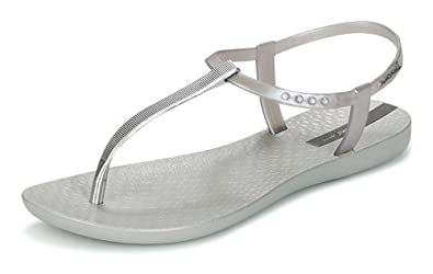 27ba18b6bd5 Ipanema Womens Flip Flops Premium Exclusive Beach Sandals-Silver-10