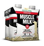 Muscle Milk Genuine Protein Shake, Banana Crème, 20g Protein, 11 FL OZ, 4 Count, (Pack of 6)