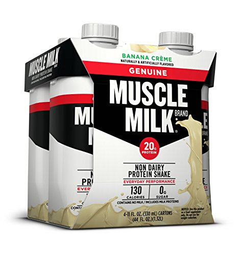Muscle Milk Genuine Protein Shake, Banana Creme, 4 Count