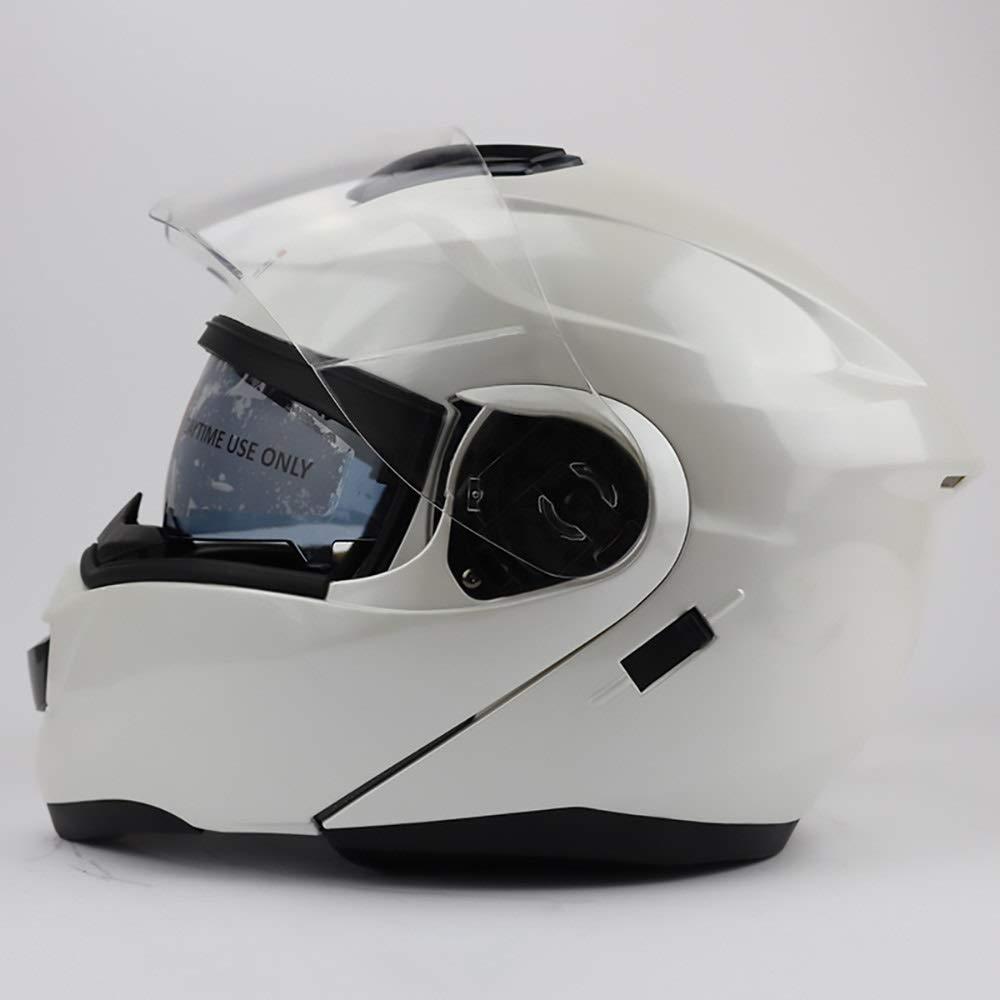 HYH 電気自動車のオートバイのヘルメットの自転車のマウンテンバイクのヘルメットの屋外の乗馬装置に乗っている純粋で白い大人の自転車のヘルメット いい人生 (Size : XL) X-Large  B07SD3MZ7T