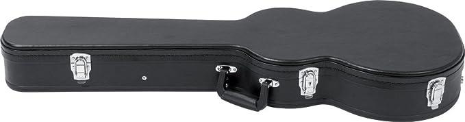 Estuche para guitarra eléctrica con forma stratocaster. serie deluxe. color negro: Amazon.es: Instrumentos musicales