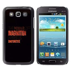 iBinBang / Funda Carcasa Cover Skin Case - Imaginación Infinito Naranja Limpio Negro - Samsung Galaxy Win I8550 I8552 Grand Quattro