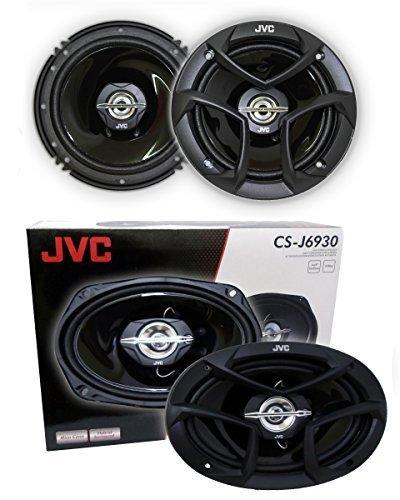 """2 JVC CS-J620 6.5"""" 300W 2-Way + 2 JVC CS-J6930 6X9 400W 3-Wa"""