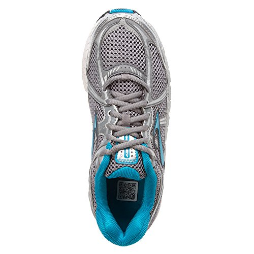 Brooks Womens AddictionTM 11 Running Shoes (5.5 2A(N) Narrow, Silver/Primer Grey/Shadow)