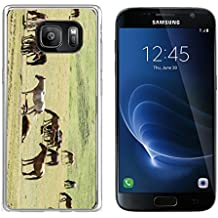 Luxlady Samsung Galaxy S7 Clear case Soft TPU Rubber Silicone IMAGE ID 30719401 Horses in the mountains equine nag hoss hack dobbin a solid hoofed plant eating domesticate