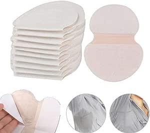 100 piezas Desechables almohadillas para el sudor de axilas protección contra el sudor y desodorante manchas, Sudor Almohadillas puro del color es ...